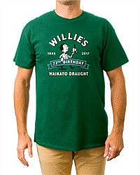 Waikato Draught Willie's 72nd Birthday Tee