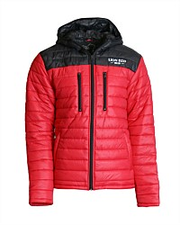 Lion Red Hooded Puffer Jacket