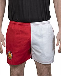 Lion Red Retro Harlequin Rugby Shorts