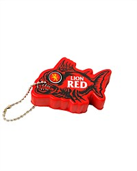 Lion Red Angry Fish Keyring